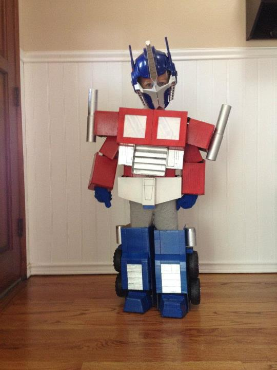 how to make a transformer robot out of cardboard