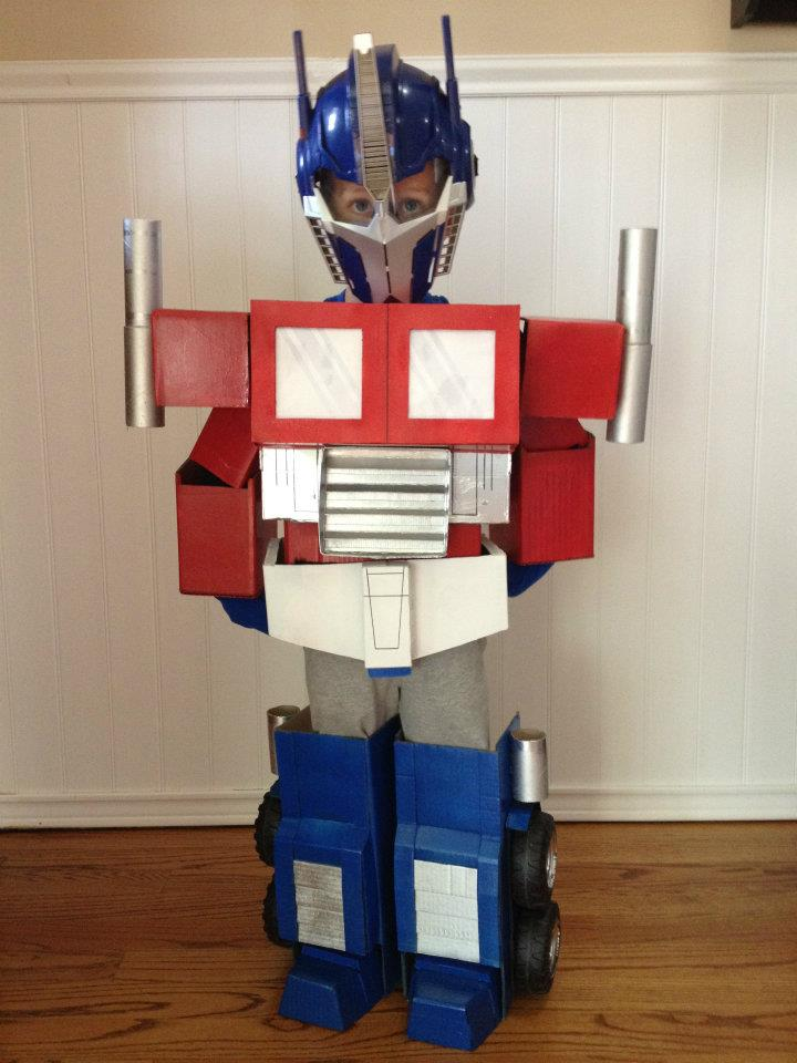 Epic Homemade Optimus Prime Costume