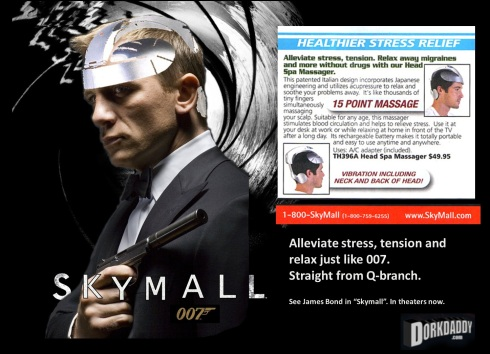 "James Bond in ""Skymall"""