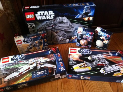 Episode V's Xmas Lego haul. It took him less than a week to finish all of them.