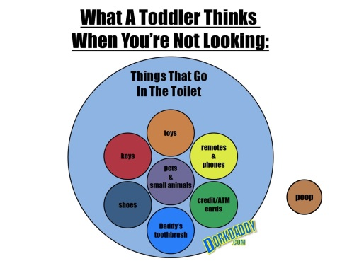 toddler toilet poop