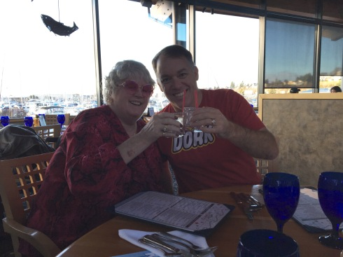 Sharing vodka on the rocks with the woman who, 28 years ago, taught me a healthy disdain for authority.