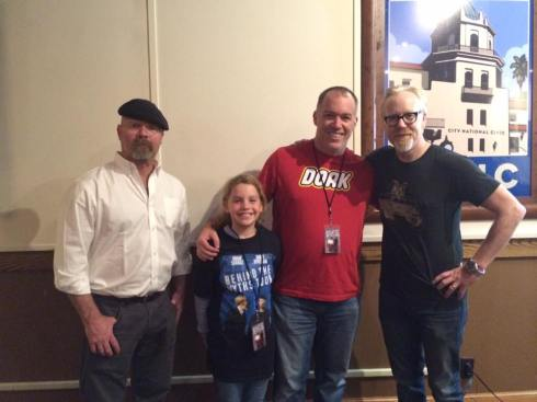 My daughter with her heroes... and her dorky dad.